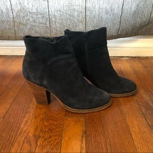 BLUE SUEDE BOOTS- SOLE SOCIETY